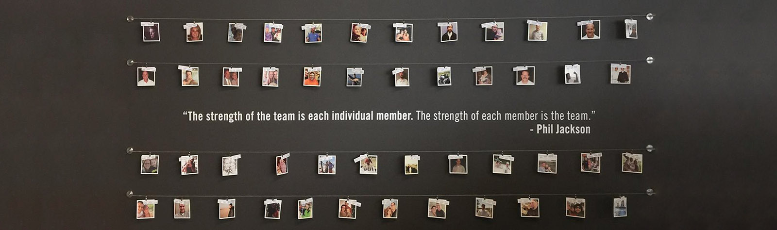 Staff Photos Wall - Phil Jackson Quote